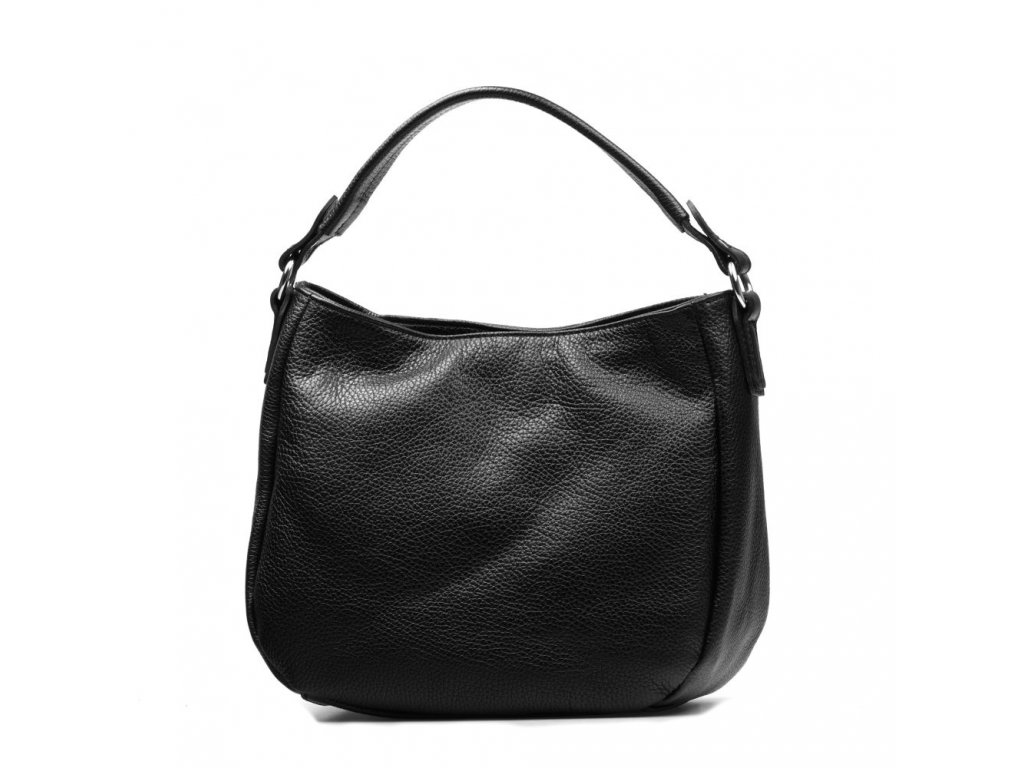 Kožená kabelka Sabina černá