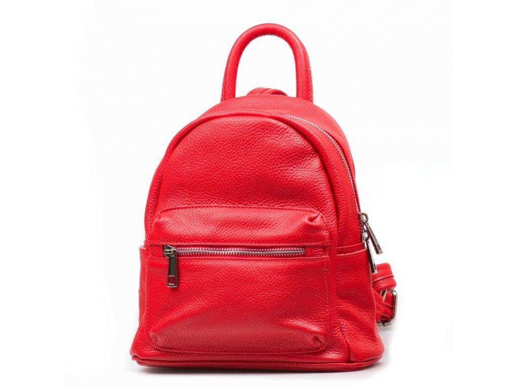 Kožený batůžek Scarlet červený