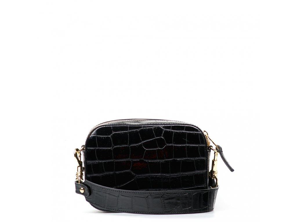 Kožená crossbody kabelka Emma černá