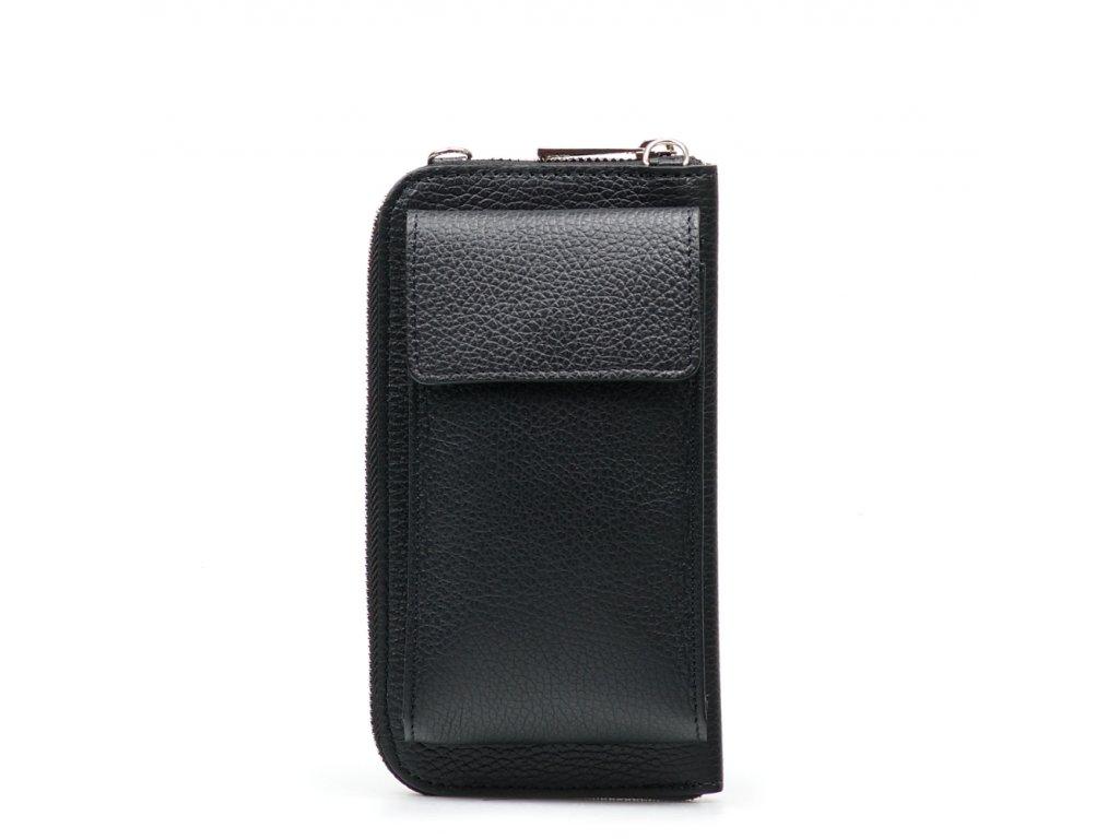 Kožená mini kabelka a peněženka Tonny černá