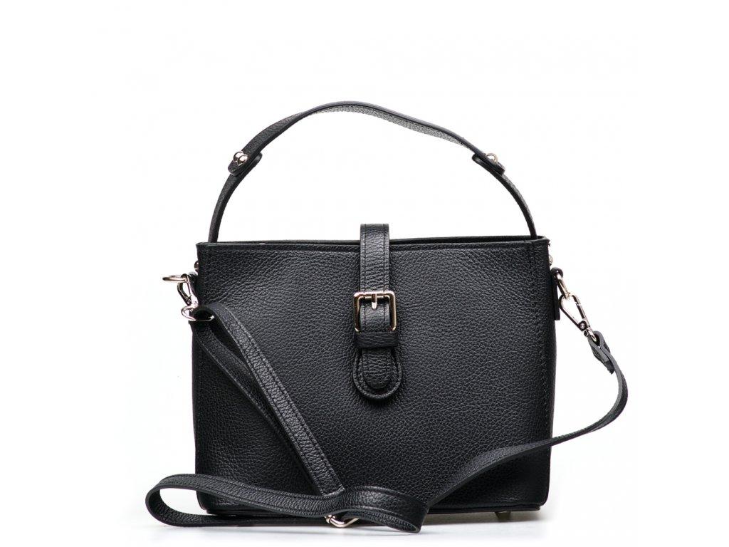 Kožená kabelka Loreta černá