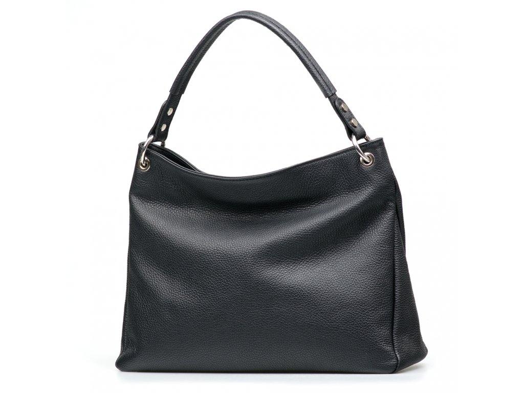 Kožená kabelka Chantal černá