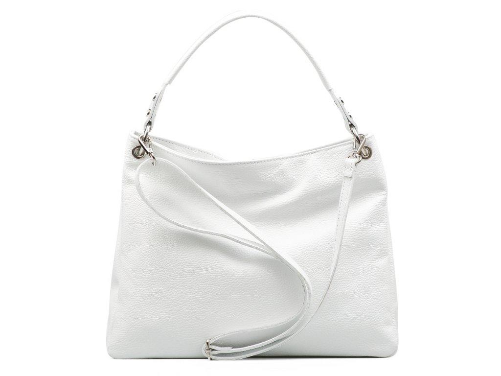 Kožená kabelka Chantal bílá