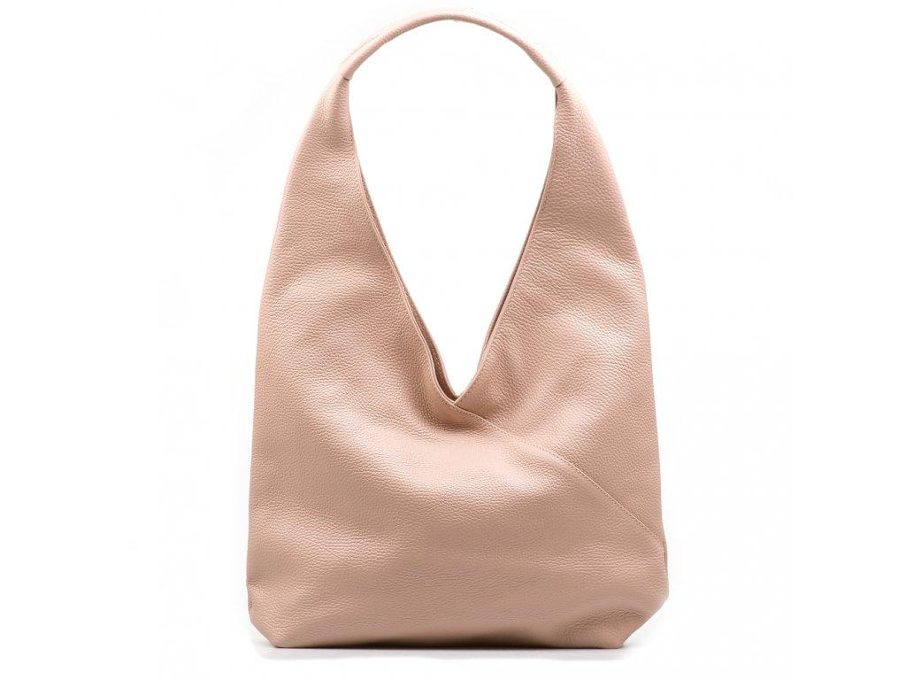 Kožená kabelka Paola pudrově růžová