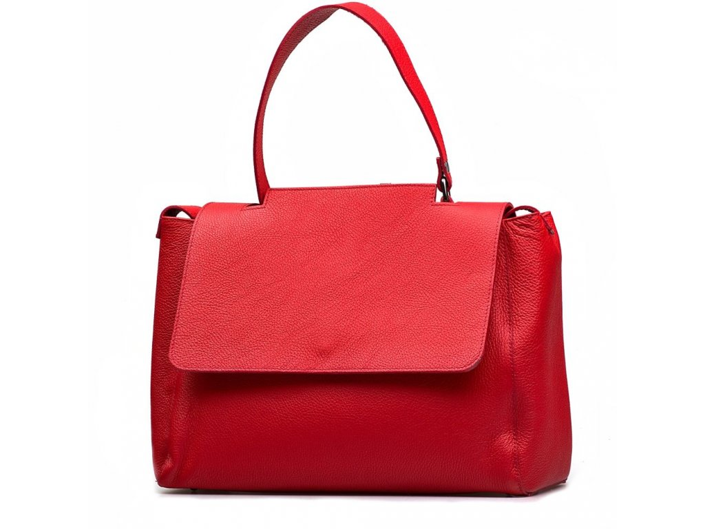 a06ff01c675 Kožená kabelka Savina červená - Blaire shop