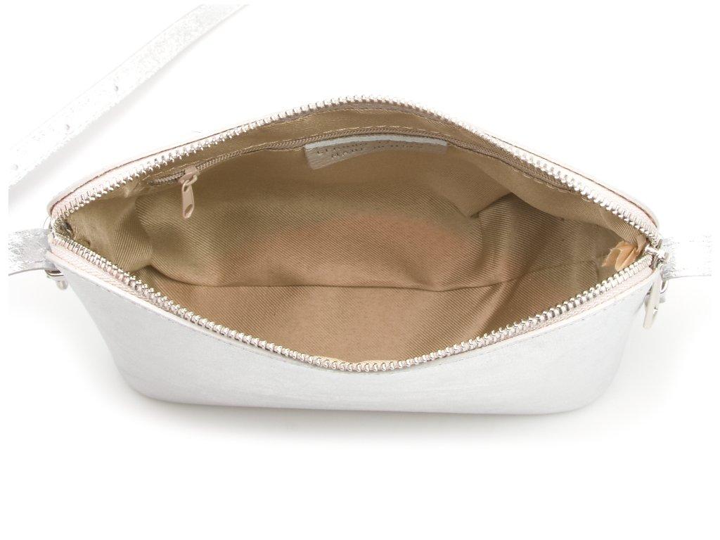 Kožená kabelka Stella stříbrná