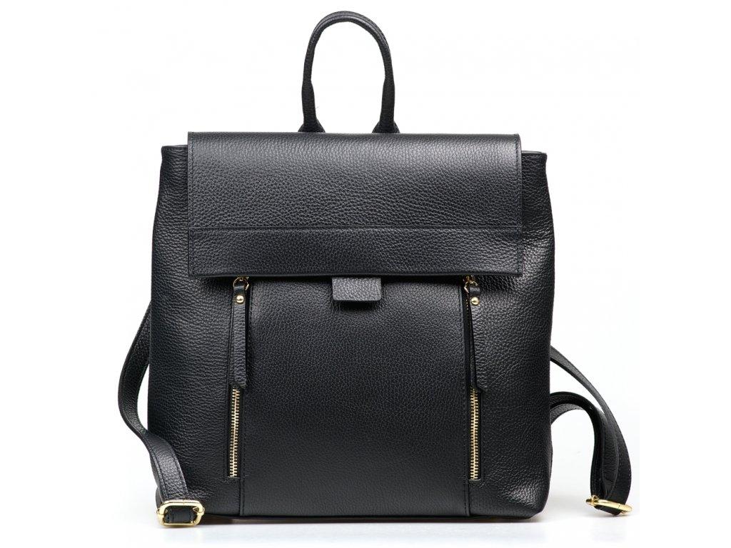 Kožený batůžek Arden černý