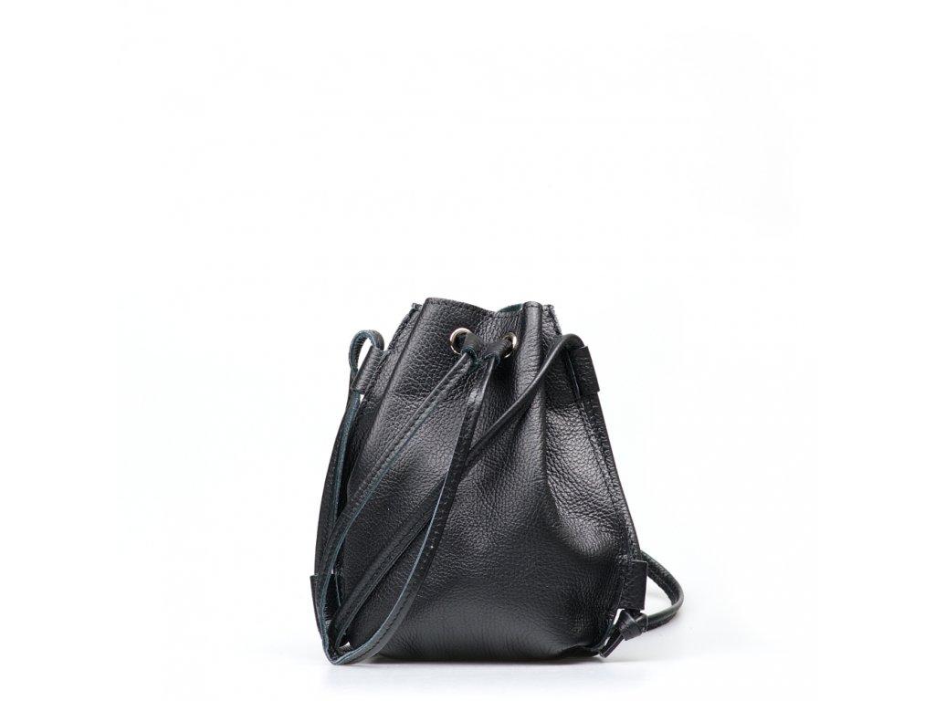 Kožená kabelka Ofelie černá