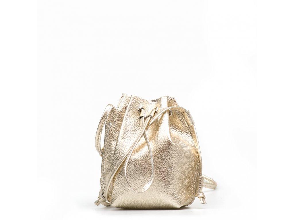 Kožená kabelka Ofelie zlatá