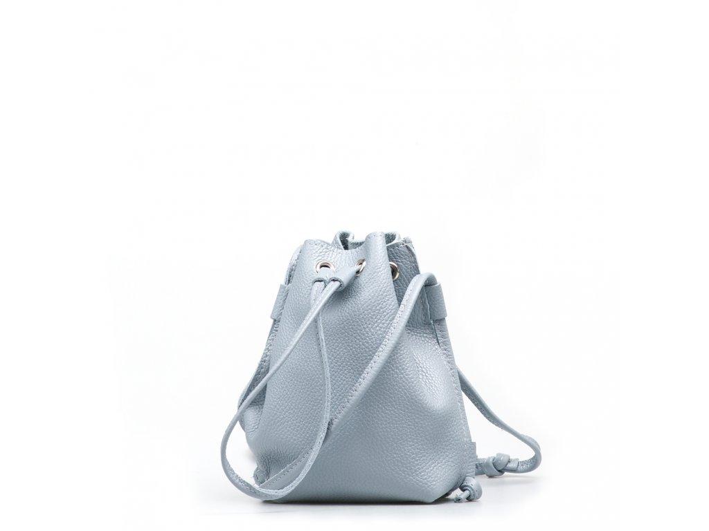 Kožená kabelka Ofelie světle modrá
