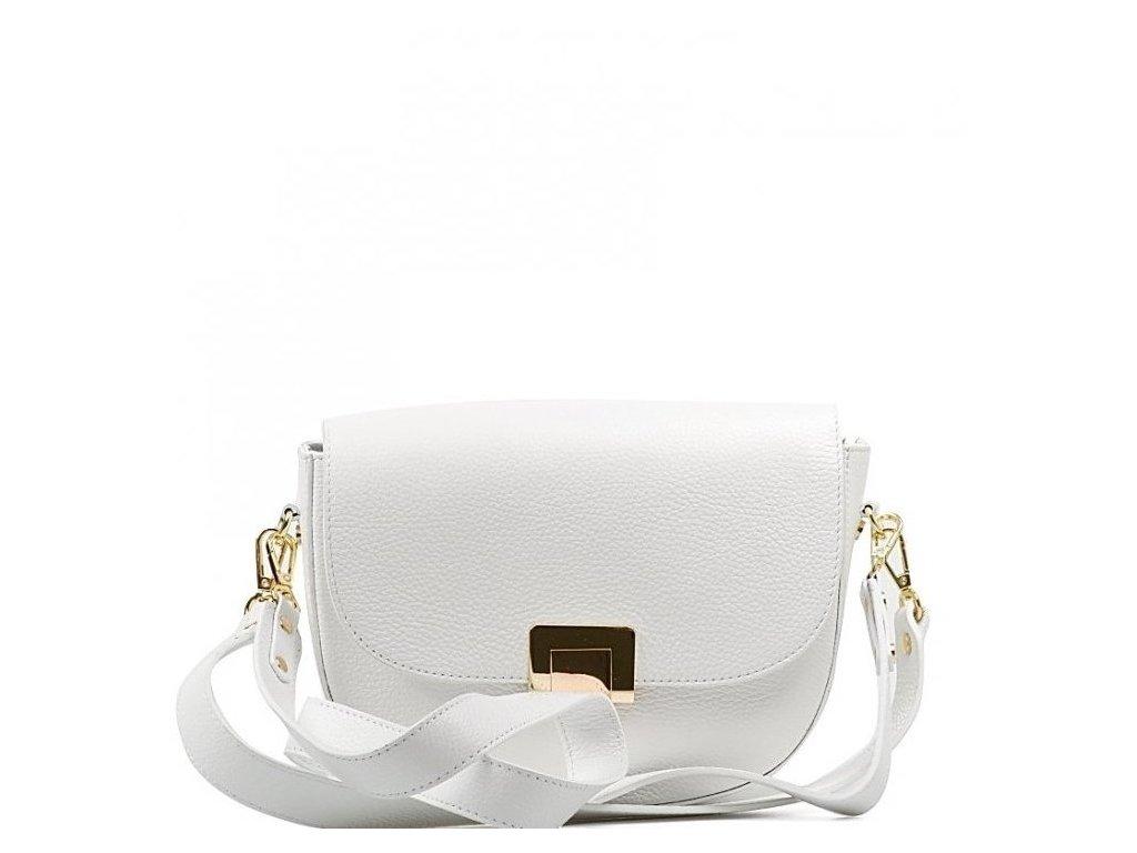 Kožená kabelka Sally bílá