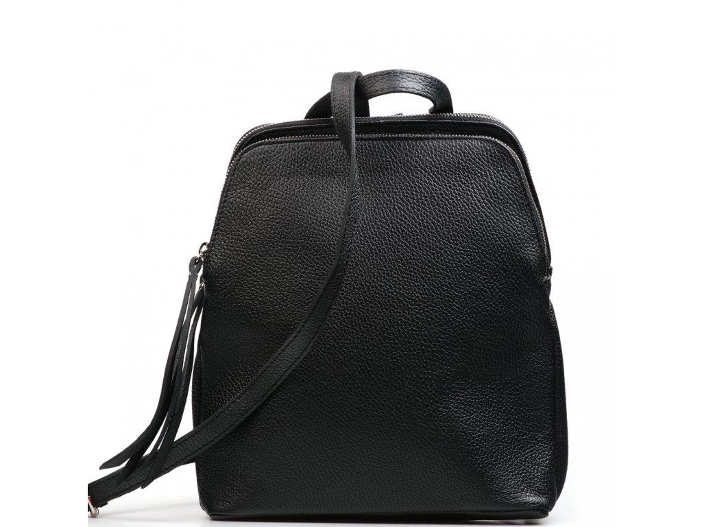 Kožený batůžek Alcina černý