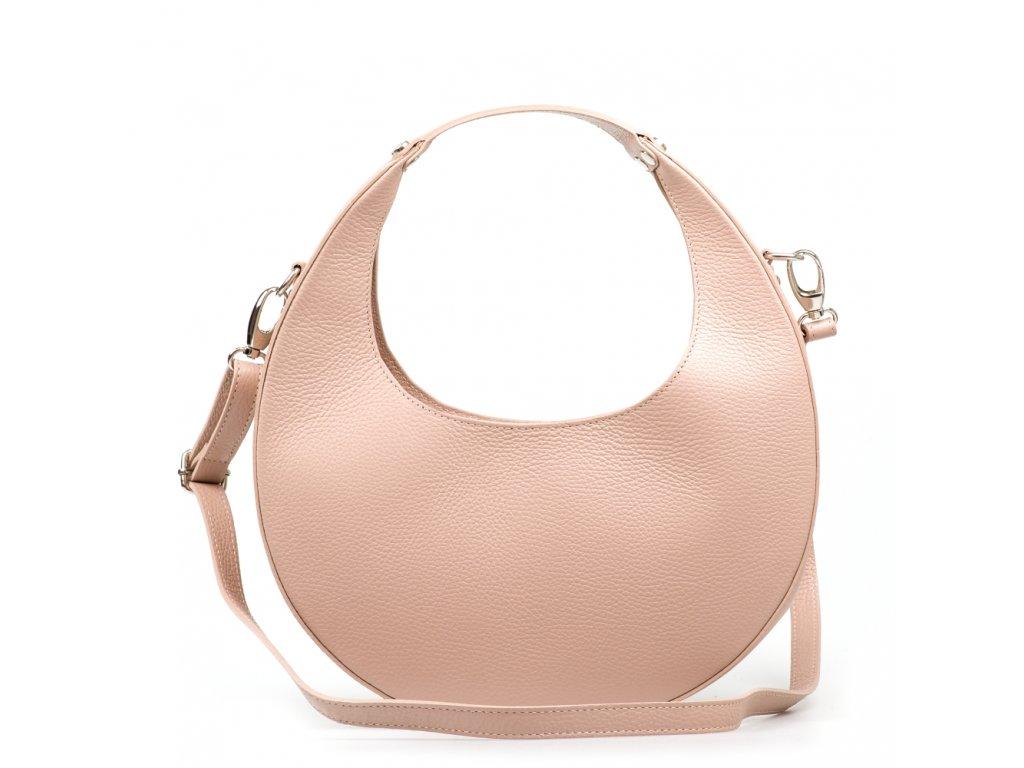 Kožená kabelka Gisela pudrově růžová