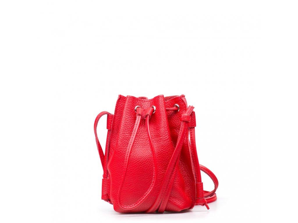 Kožená kabelka Ofelie červená