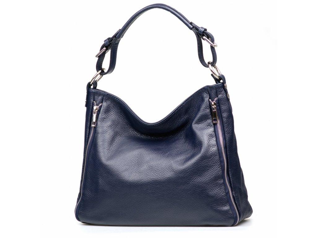 Kožená kabelka Gaila modrá