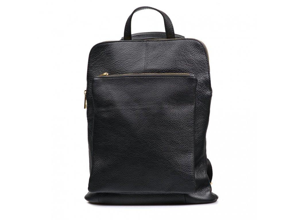 Kožený batůžek - kabelka Patricia černý