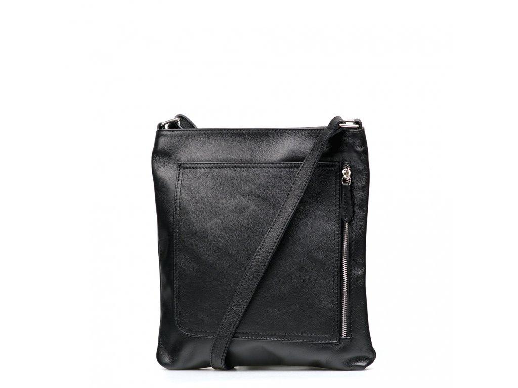 Kožená crossbody taška Charlie černá