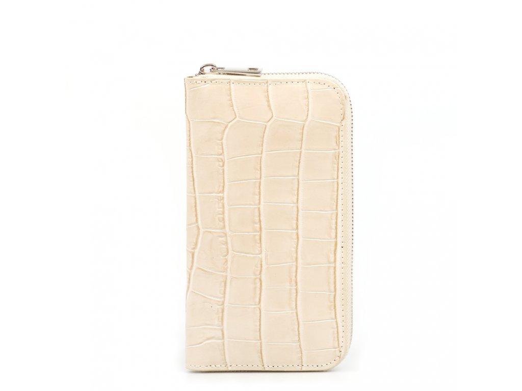 Dámská kožená peněženka Porzia béžová
