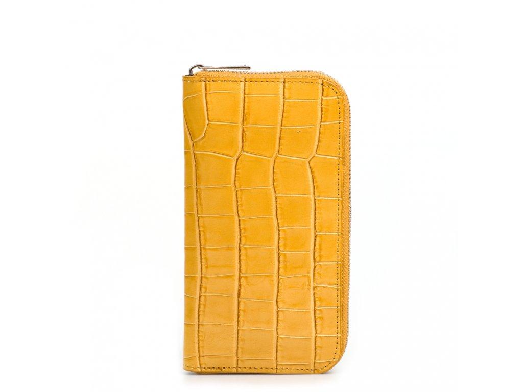 Dámská kožená peněženka Porzia hořčicově žlutá