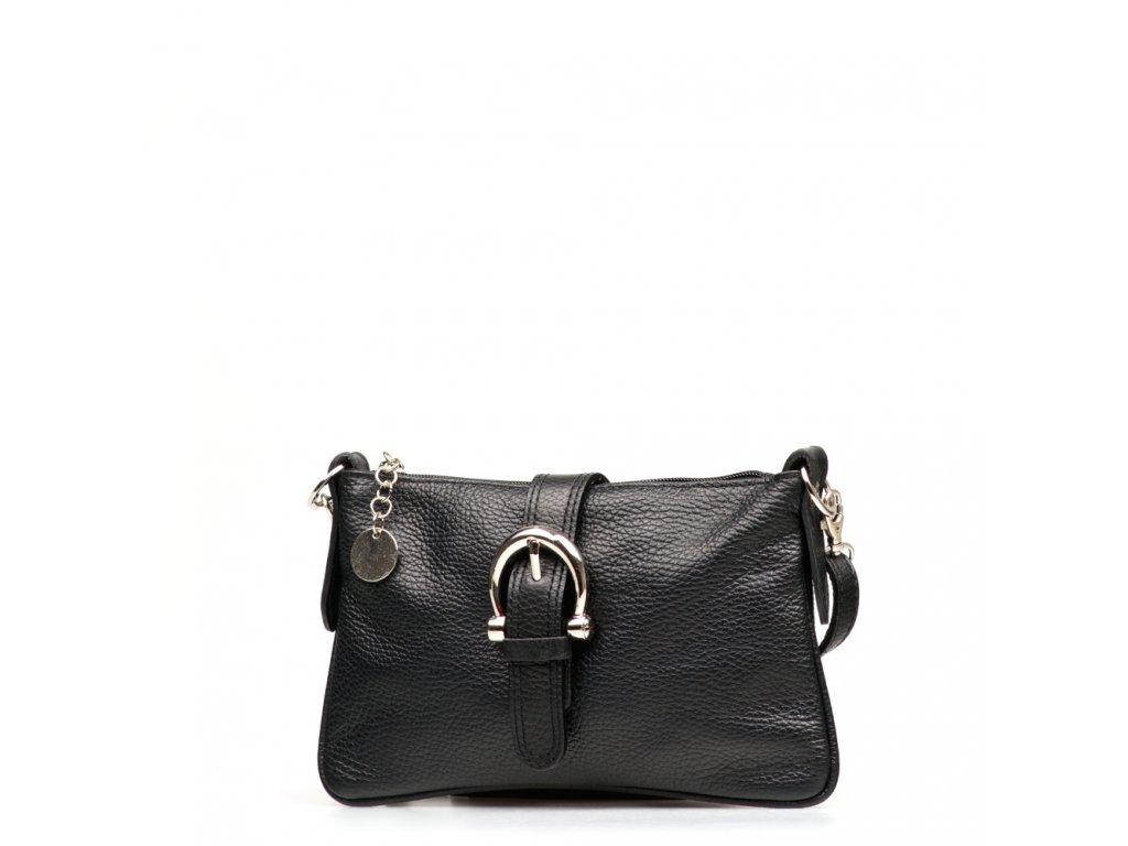 Kožená kabelka Betha černá