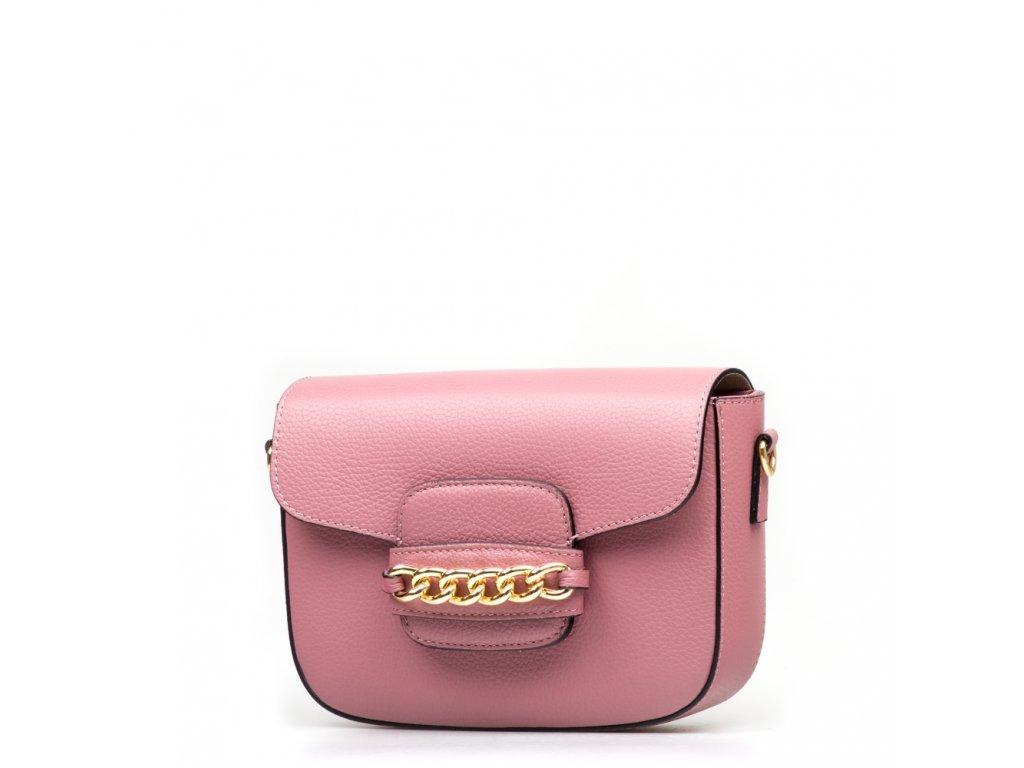 Kožená kabelka Noelle růžová