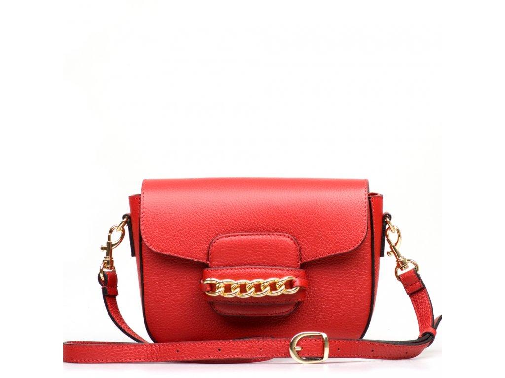 Kožená kabelka Noelle červená