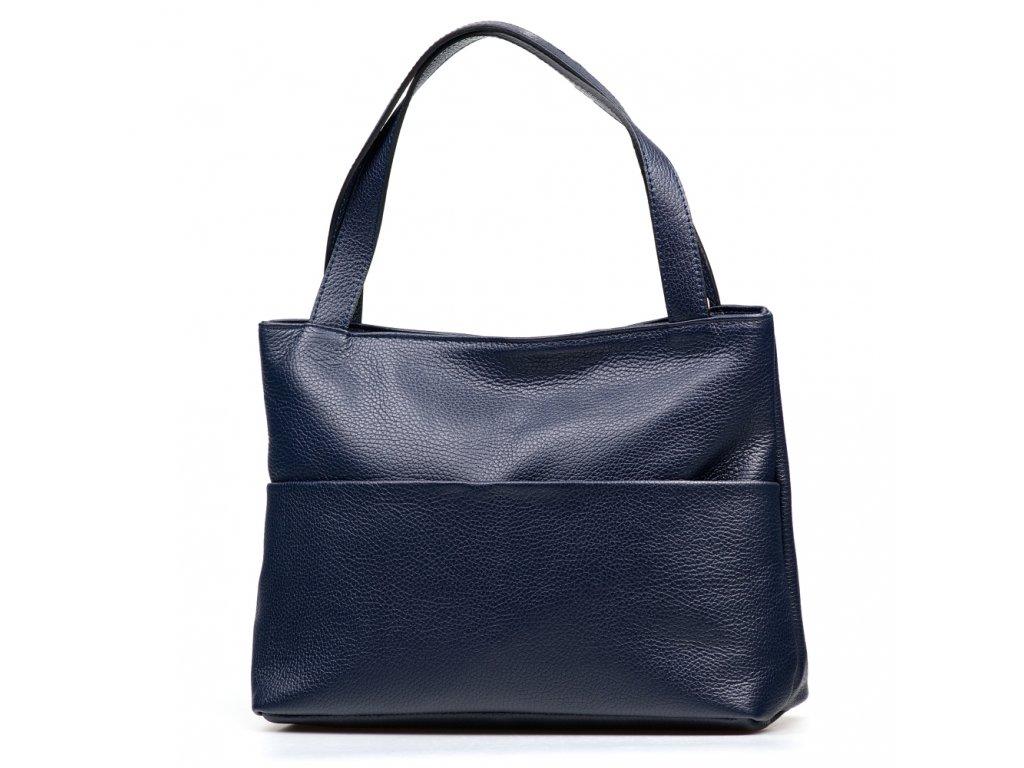 Kožená kabelka Daniela modrá