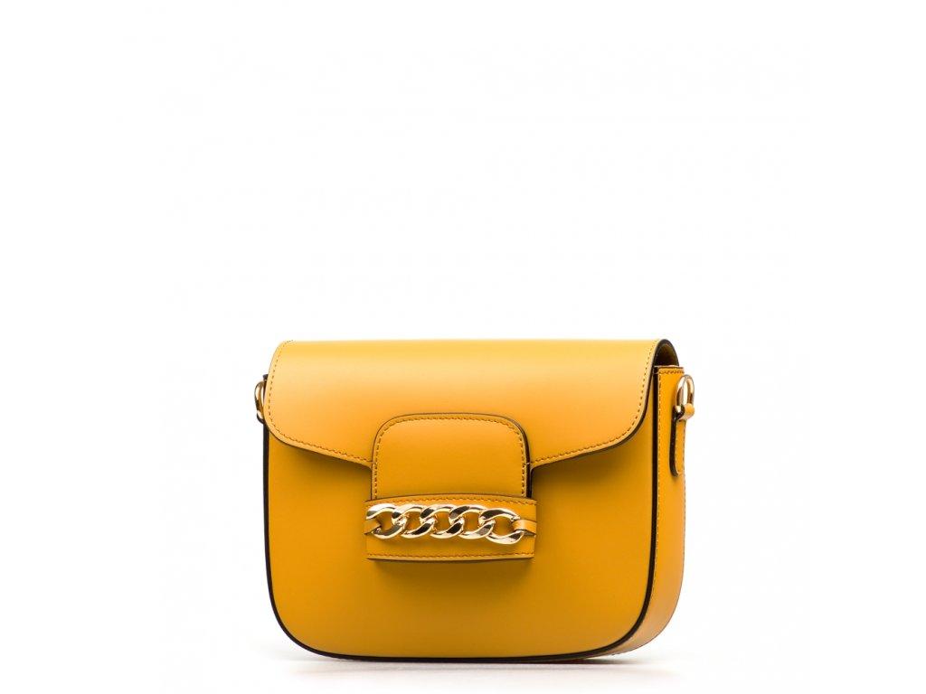 Kožená kabelka Vania hořčicově žlutá