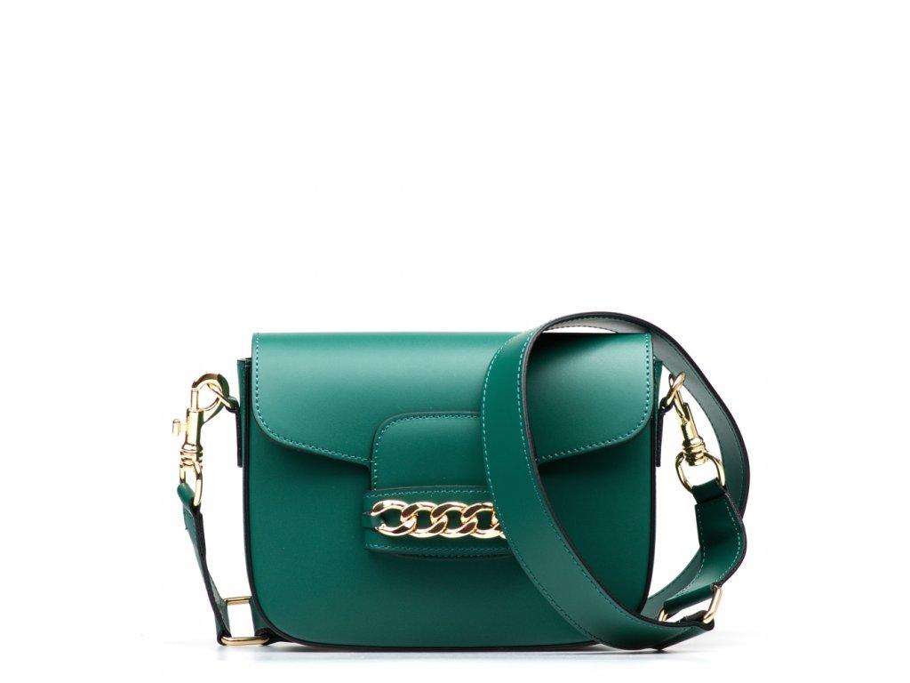 Kožená kabelka Vania zelená