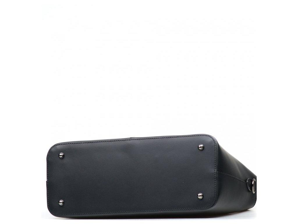 Kožená kabelka Zoella černá