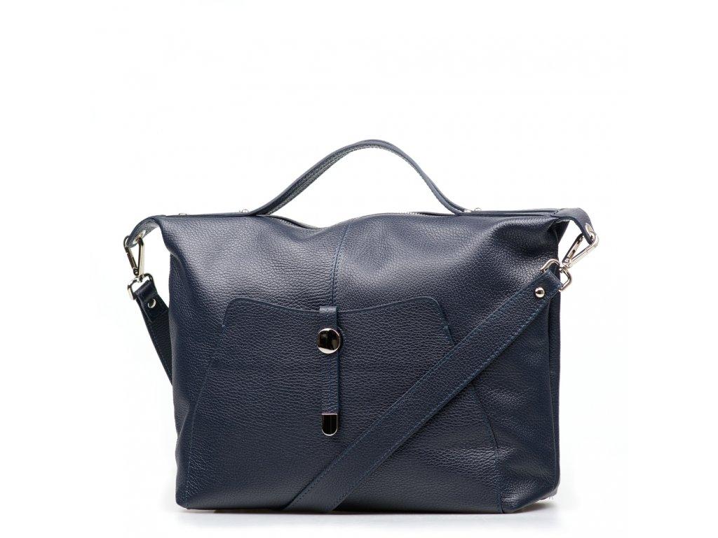 Kožená kabelka Raven modrá