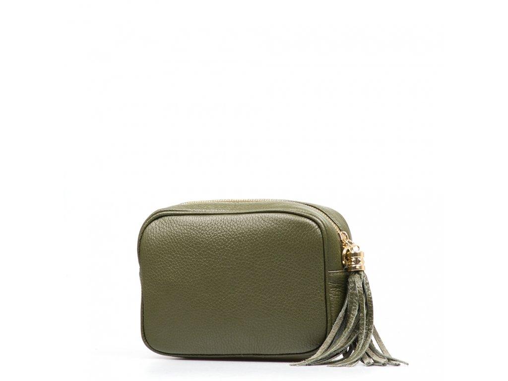Kožená crossbody kabelka Cameron zelená