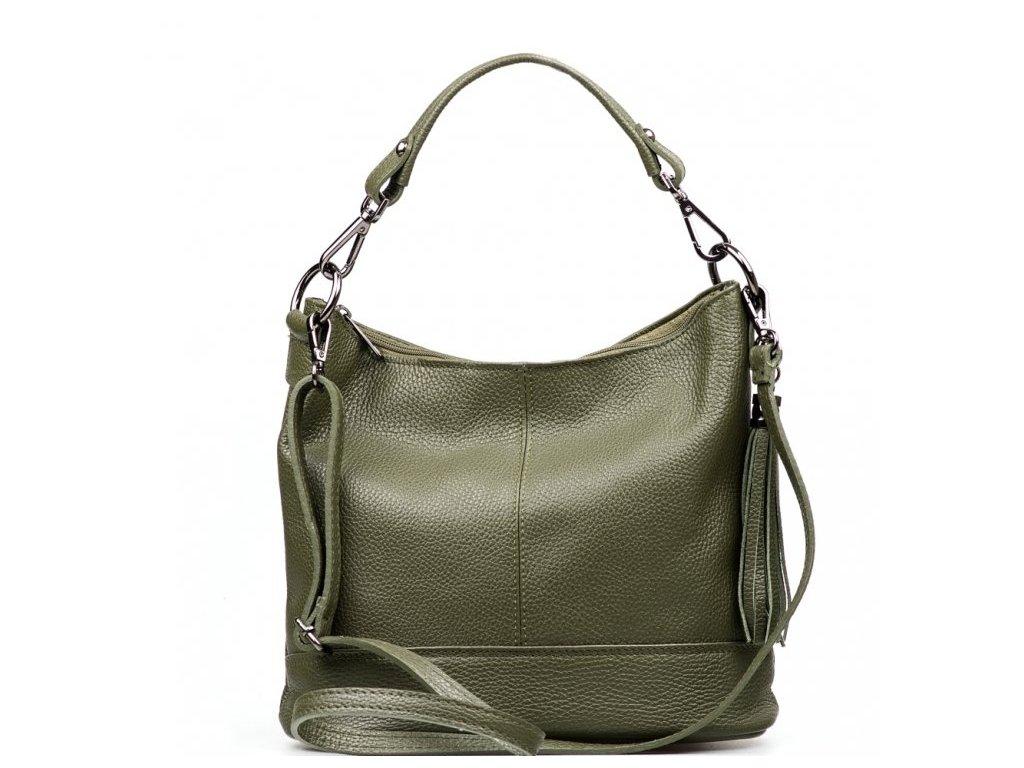 Kožená kabelka Sonia olivově zelená