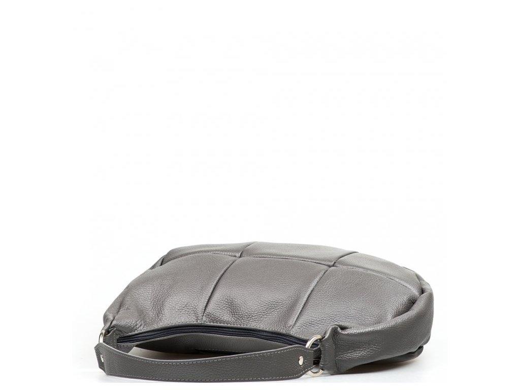 Kožená kabelka Alexis tmavě šedá