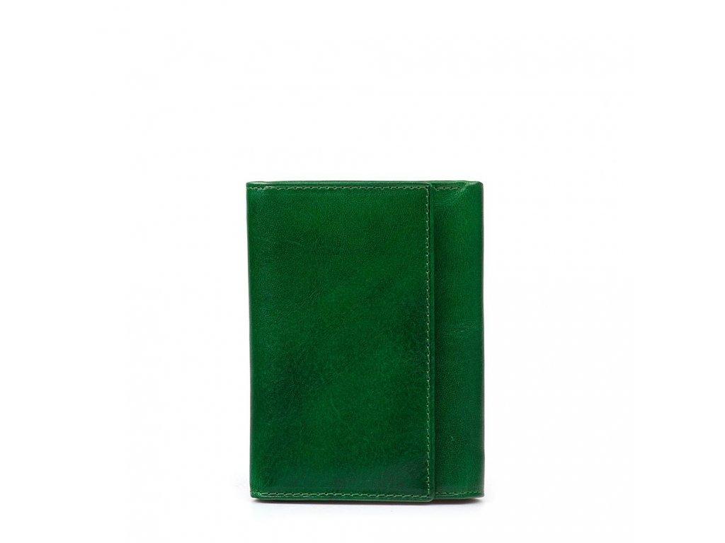 Kožená peněženka Lila zelená