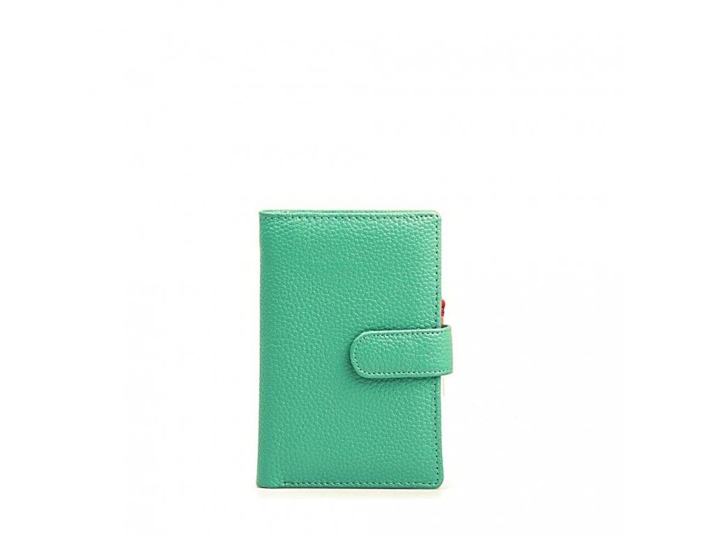 Kožená peněženka Marion tyrkysová