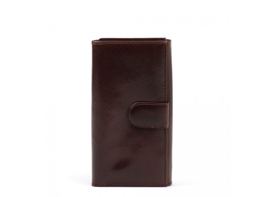 Kožená peněženka Nancy hnědá