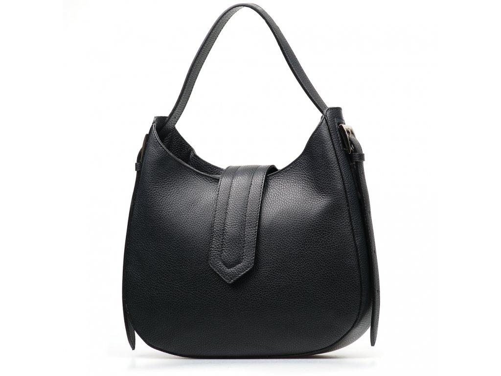 Kožená kabelka Janine černá