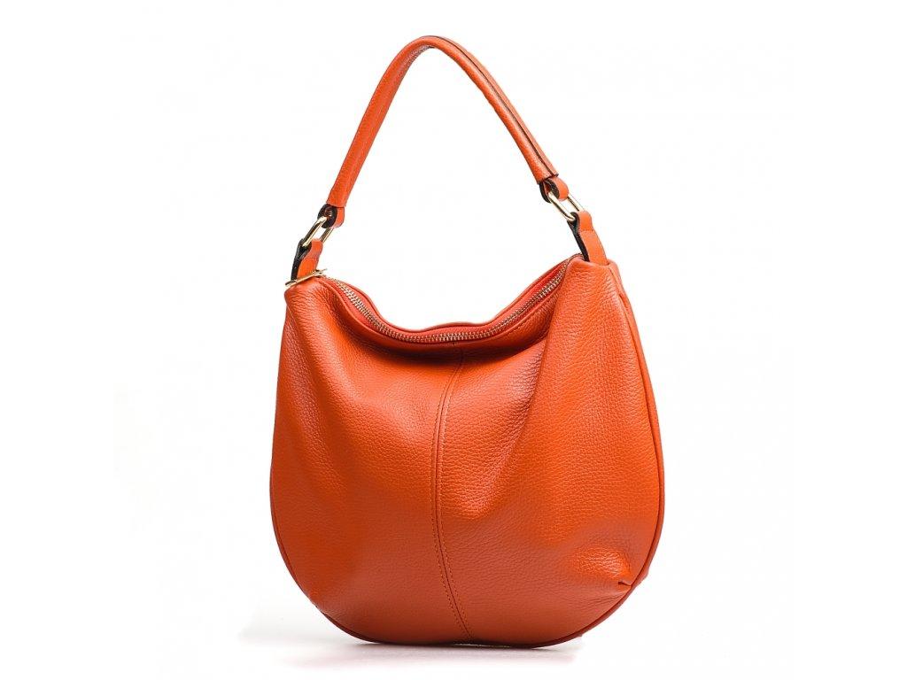 Kožená kabelka Jenna oranžová
