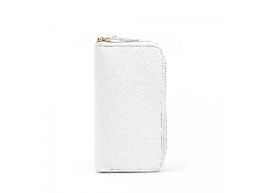 Kožená peněženka Olinda bílá