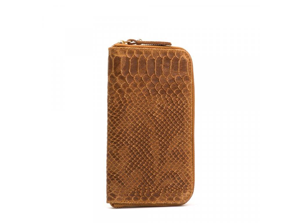 Kožená peněženka Orlanda hnědá