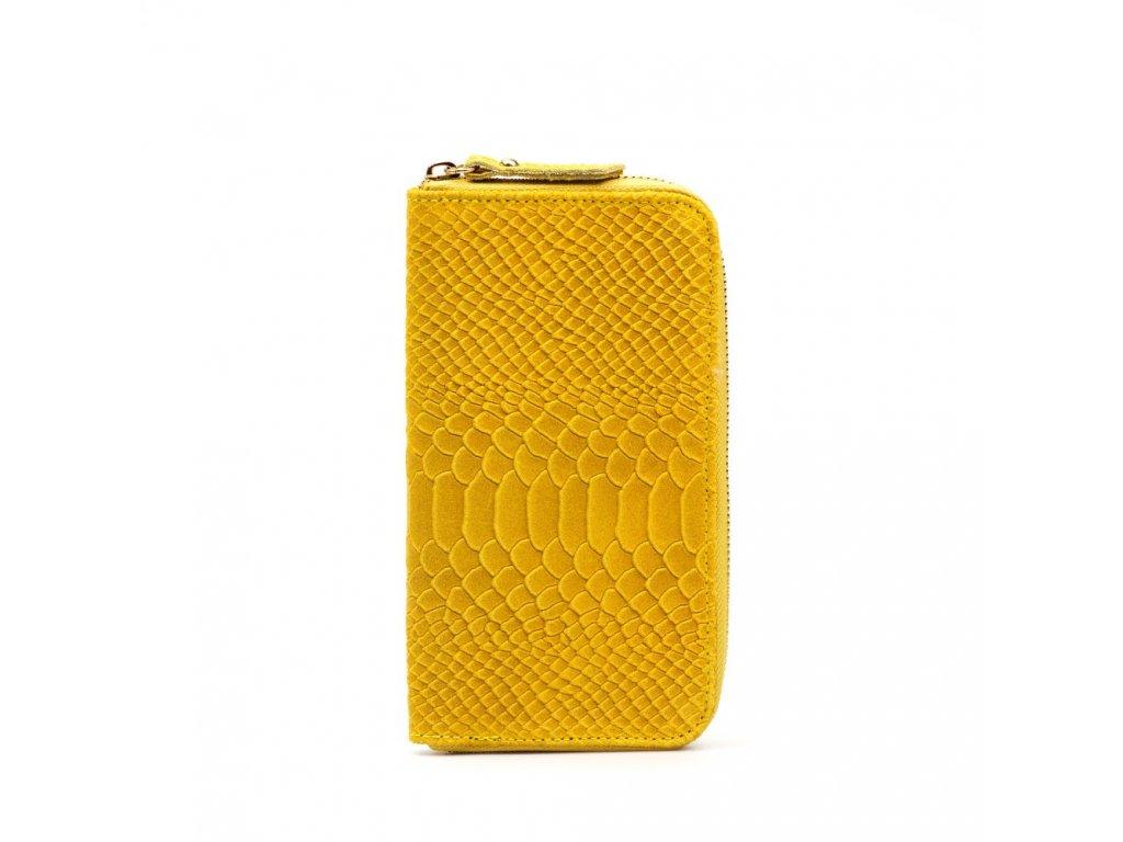 Kožená peněženka Orlanda žlutá