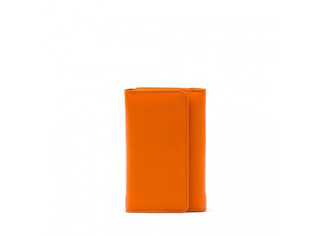 Kožená peněženka Tina oranžová