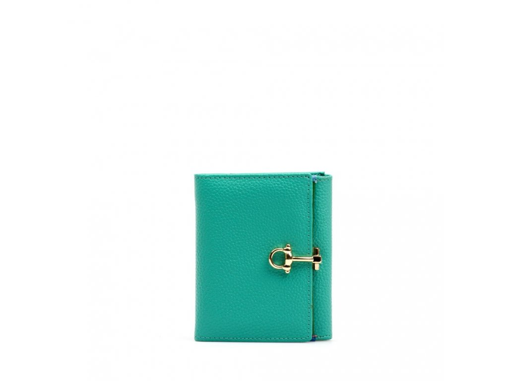Kožená peněženka Lily tyrkysová