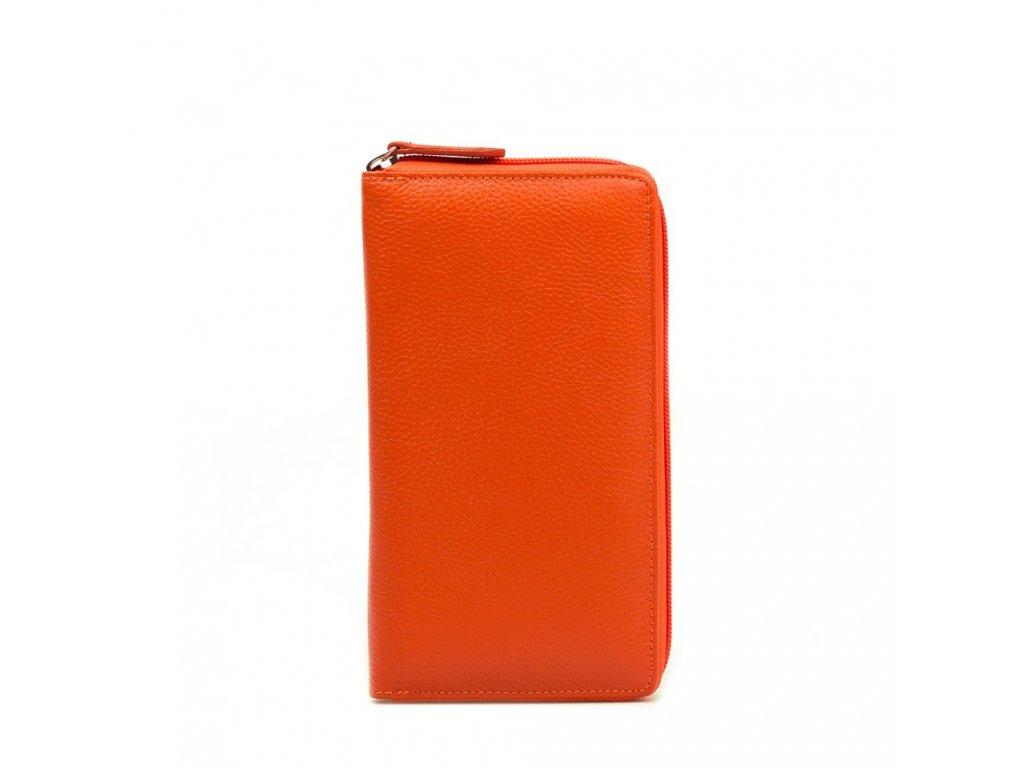 Kožená peněženka Rina oranžová