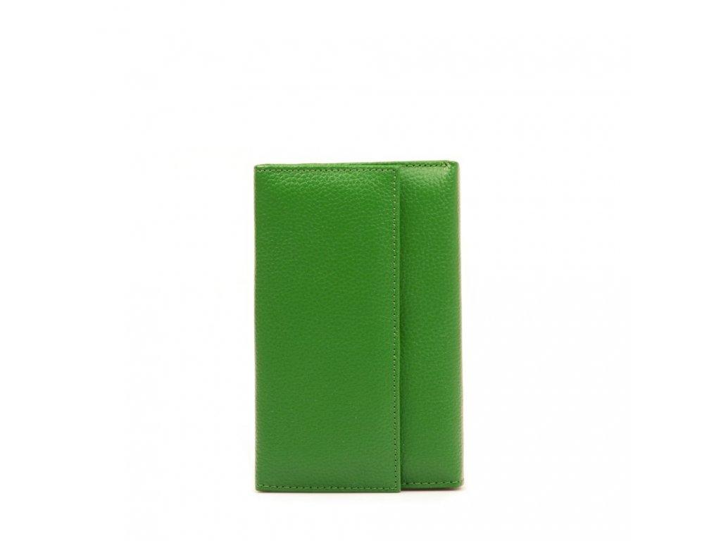 Dámská kožená peněženka zelená
