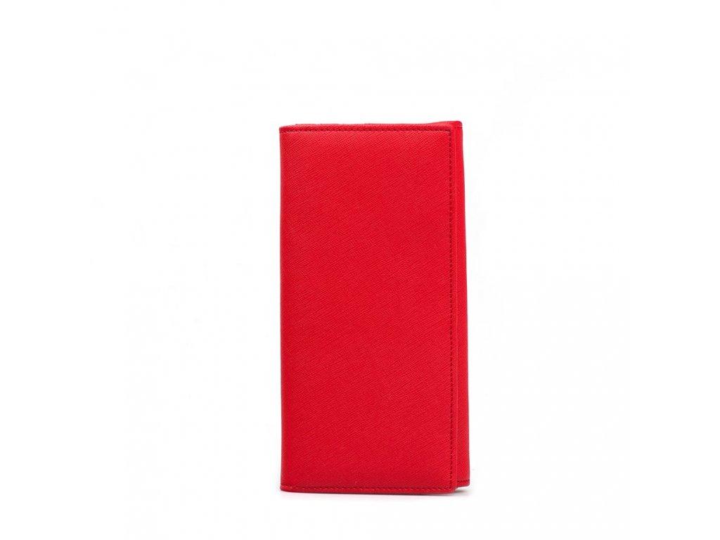 Kožená peněženka Elena červená