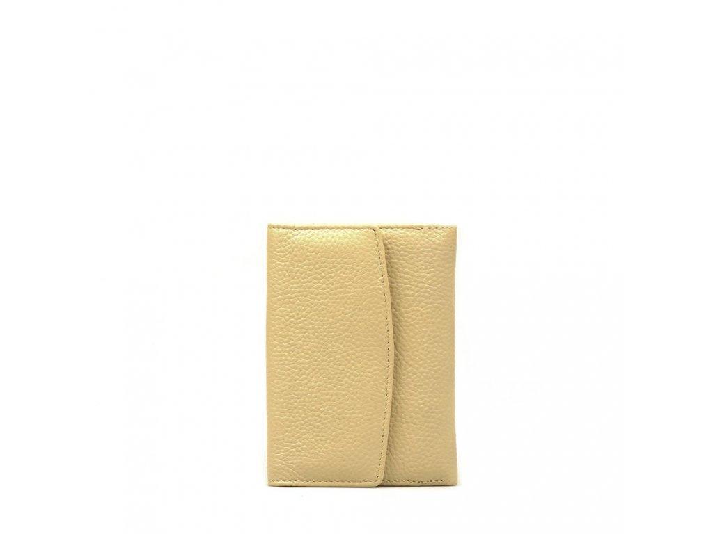 Dámská kožená peněženka béžová