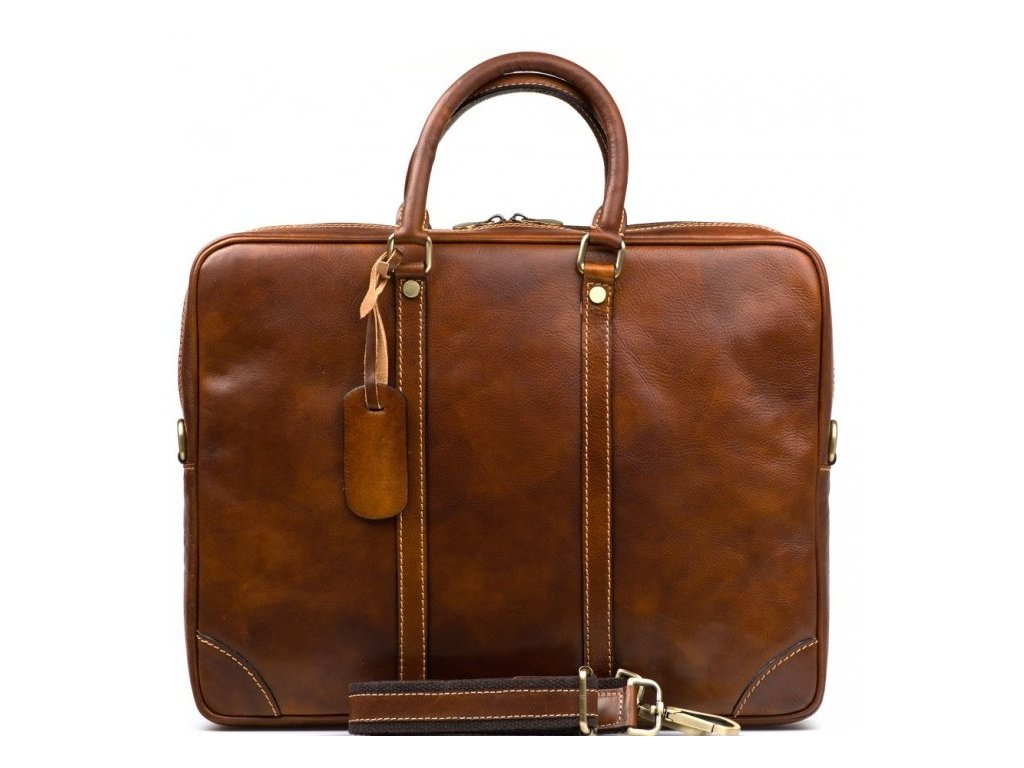Kožená pracovní taška Gavin hnědá