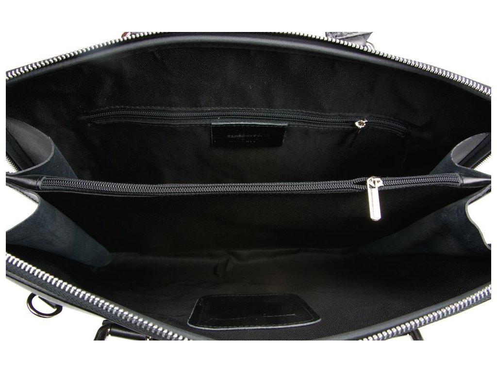bfd5c0552b Kožená taška na notebook Esme černá - Blaire shop